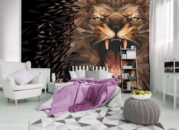 Wall mural Roaring abstract Lion | Shop online
